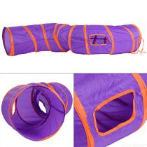 Cat-Tunnel-Pet-Toys-Foldable-2-Holes-Kitten-Tube-Small-Animal-Hideaway-For-Kittens-Rabbits-Puppies-Ferrets