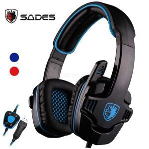 Sades SA 901 Gaming Headset 7.1 Surround USB Gaming Headphone With Noise Cancelling Mic For Computer Laptop PC Gamer
