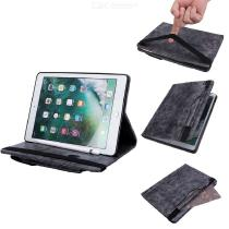 Vintage-Leather-Protective-Tablet-Case-Cover-With-Card-Pockets-Kickstand-Elastic-Strap-For-IPad-97-Inch