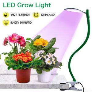 Full Spectrum LED Plant Growing Lamp With Clip Three-stage Timing Light For Flower Vegetables