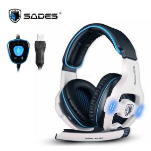 SADES 7.1 Surround Sound Stereo Gaming Headset With Microphone And Volume-Control LED Light For PC Laptop