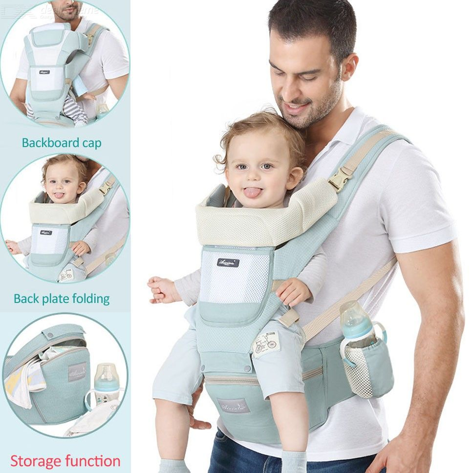 Baby Carrier Waist Stool, Cotton Mesh Newborn Infant Backpack Sling Hipseat For All Seasons