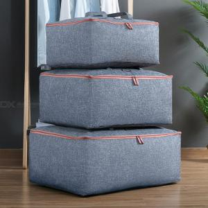 Lightweight Burlap Luggage Bag Quilt Blanket Clothing Storage Bags With Handle