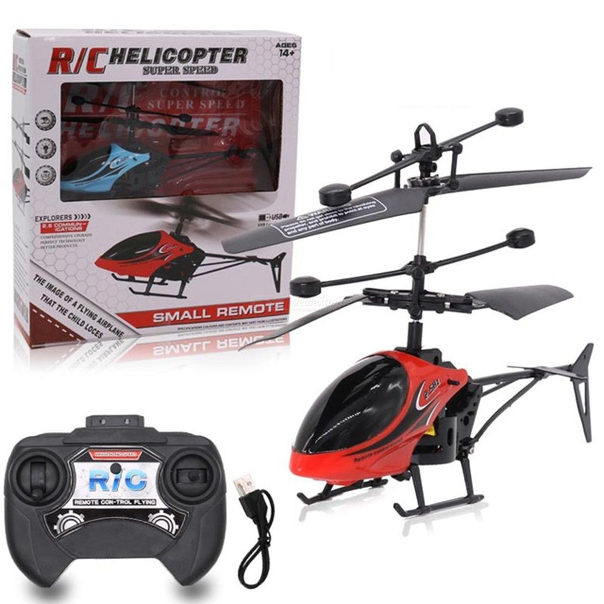 Rechargeable Remote Control Helicopter 2ch Rc Aircraft Electric Toys With Led Light Free Shipping Dealextreme