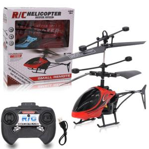 Rechargeable Remote Control Helicopter 2CH RC Aircraft Electric Toys With LED Light