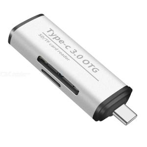 Portable 2 In 1 USB Type C 3.0 High Speed Card Reader For Micro SD, TF Card