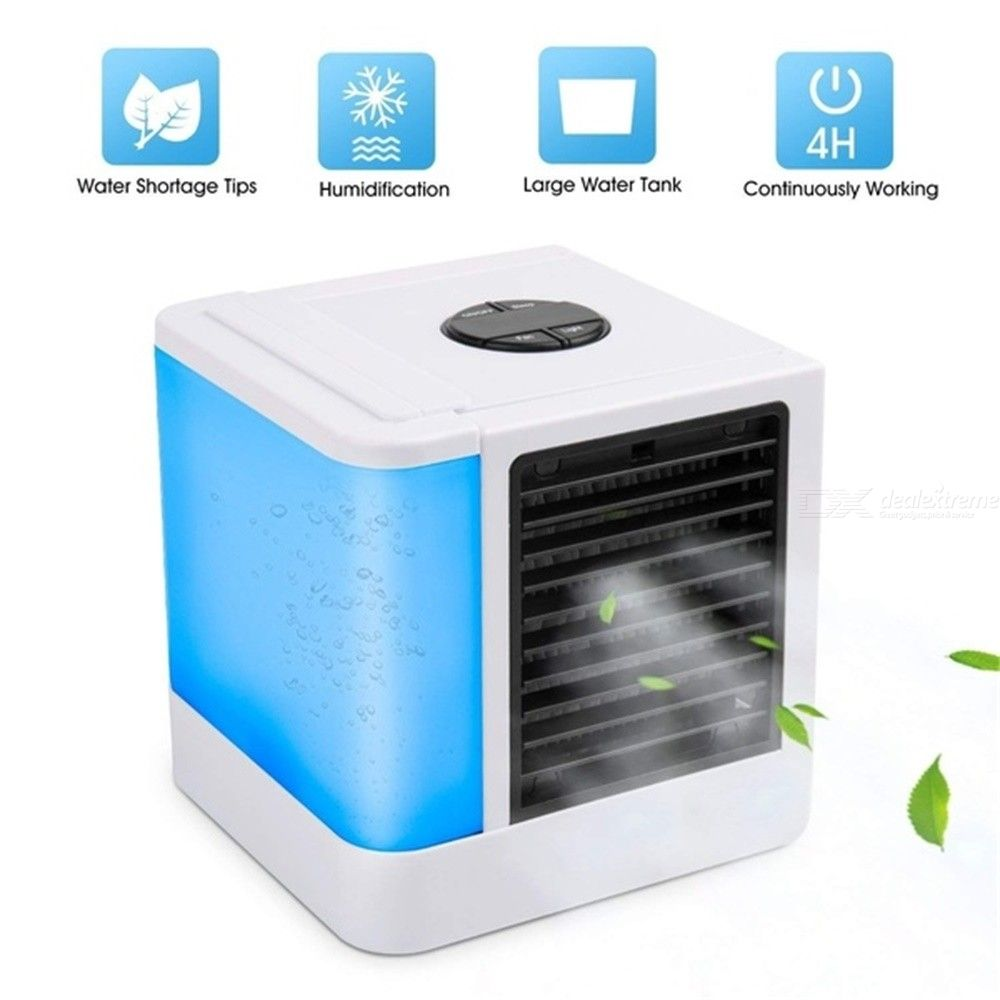 Mini USB Charging Air Cooler Digital Air Conditioning Machine Portable Air  Cooling Fan For Home Office