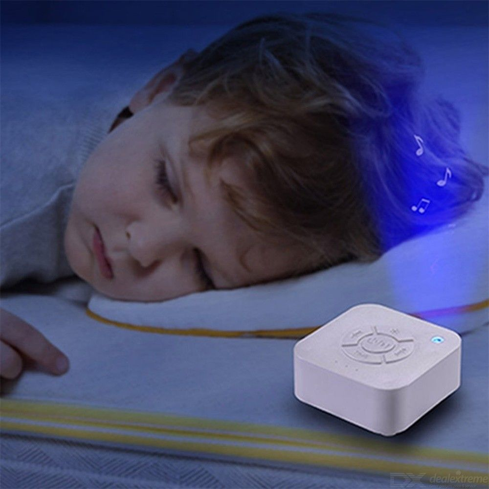 Dx coupon: White Noise Sleeping Machine USB Rechargeable Music Sleep Instrument With Breathing Light For Baby Adults