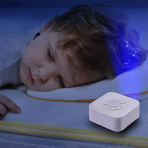 White Noise Sleeping Machine USB Rechargeable Music Sleep Instrument With Breathing Light For Baby Adults