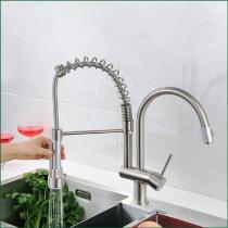 High-quality-Nickel-Brushed-Brass-Pull-out-Pull-down-Kitchen-Faucet