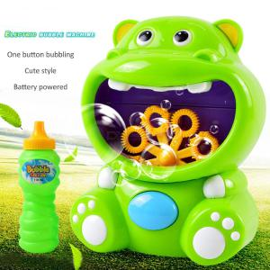 Lovely Electric Cartoon Bubble Machine Automatic Bubbles Maker Toy For Kids