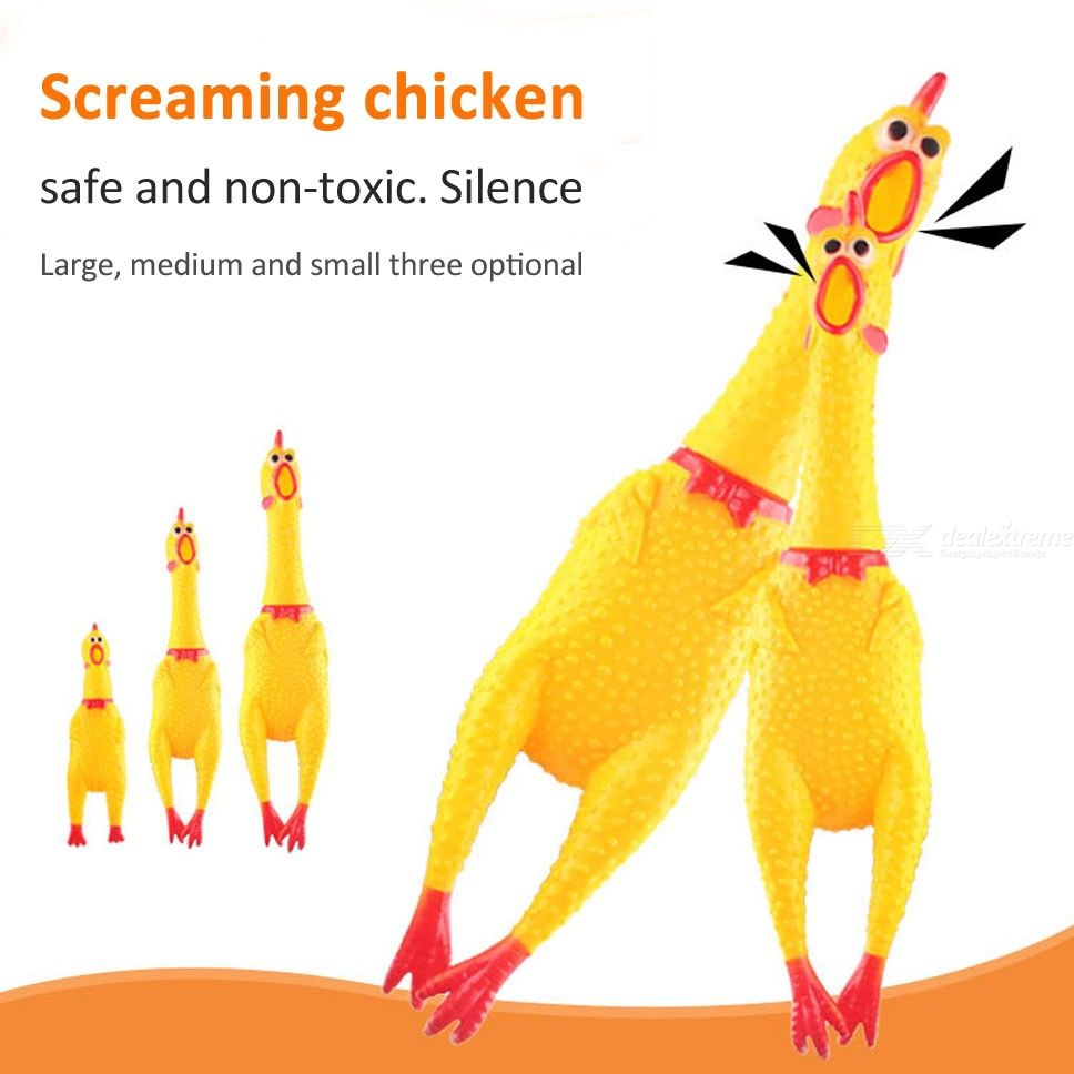 1PC Dog Chew Toy Funny Screaming Chicken Toys Stress Relief Pet Products