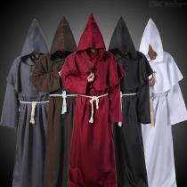 Halloween-Cosplay-Costume-Hooded-Monk-Robe-For-Costume-Play-Party-Stage-Play