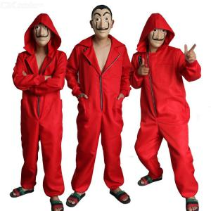 Money Heist Cosplay Costume Fancy Cool Salvador Dali Onesies