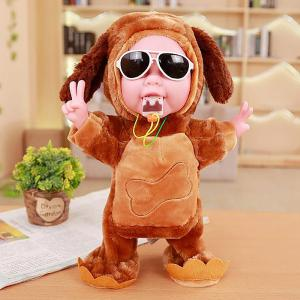 Electronic Talking Plush Doll Repeat What You Say Toy Cute Singing Dancing Music Toys Gift For Kids (32cm)