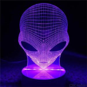 3D Alien Shape LED Lamp 16 Colors Changing Touch Switch Night Light Home Decor Table Lights With Remote Control