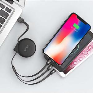 3-in-1 Charging Cable Retractable Lightning Micro USB Type C Cord