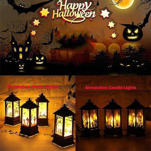 Battery Powered Halloween Small Handheld Oil Candle Lamp LED Simulation Flame Light For Halloween Party Decoration