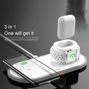 HOCO CW21 3-in-1 Wireless Charger 2.4A Multifunctional Wireless Charging Pad For IPHONE APPLE WATCH AIRPODS