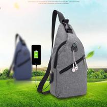 Mene28099s-Sling-Bag-With-USB-Charging-Port-Headphone-Hole-Lightweight-Crossbody-Chest-Bag-For-Walking-Cycling-Travelling