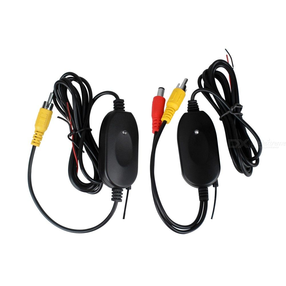 ZIQIAO ZHS-038 2.4Ghz Wireless Rear View Camera RCA Video Transmitter and Receiver Kit for Car Rearview Monitor