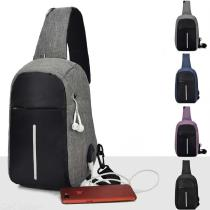 Unisex-Sling-Bag-With-USB-Charging-Port-Headphone-Hole-Lightweight-Crossbody-Chest-Bag-For-Walking-Cycling-Travelling
