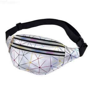 Women's Sling Bag Fashionable Lightweight PU Crossbody Chest Bag Waist Bag For Walking Cycling Travelling