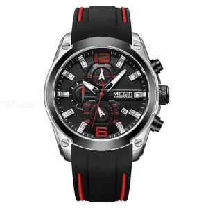 MEGIR 2063 Watch Men Waterproof Chronograph Calendar Military Male Clock Luxury Rubber Business Man Sport Wristwatch