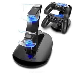 Controller Charger Dock LED Dual USB PS4 Charging Stand Station Cradle For Sony Playstation 4 PS4  PS4 Pro PS4 Slim Controller