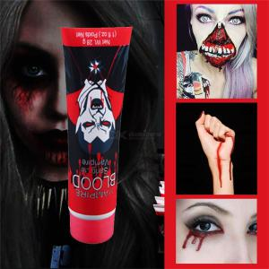 Halloween Party Makeup Realistic Fake Artificial Plasma Smashing Scary Cos Props