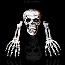 Scary-Simulation-Plastic-Skull-Head-Skeleton-Hand-Bones-Props-Kit-For-Halloween-Party-Haunted-House-Roombreak-Bar-Decoration