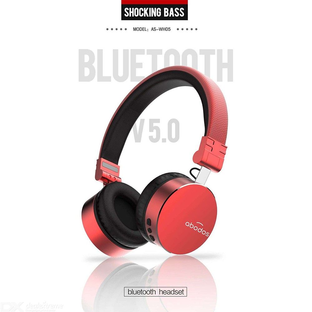 Abodos As Wh05 Portable Folding Noise Reduction Bluetooth Wireless Headphone Sports Headset With Mic Free Shipping Dealextreme