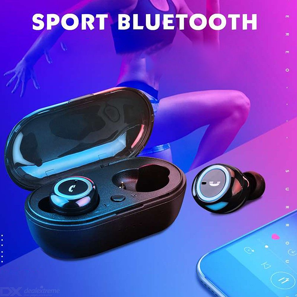 SQ-W1 Binaural Sports Bluetooth Earphones Wireless Headphones With Microphone For Phone