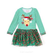 Baby-Girls-Long-sleeve-Dress-Christmas-Moose-Embroidery-Clothes-Casual-Children-Lace-Stripe-Dress-New-Year-Clothes