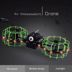 2019 New Remote Control Quadcopter Realtime HD 720P Video Camera Positioning RC Drone 360 Degree Rotating Airplane