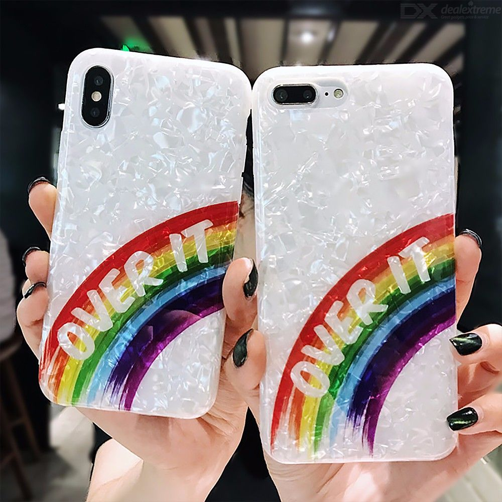 Glitter Phone Case For IPhone 7 Soft Shell Solid Color Phone Case For IPhone 8 Rainbow Gradient Phone Case For IPhone 6