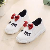2018 Girl Shoes Soft And Comfortable Childrens Shoes Toddler Baby Girl Shoes Sequin Bow Autumn Girl Shoes