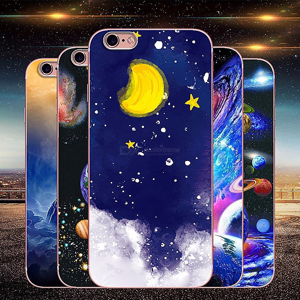 Soft Silicone Case For Iphone 7 Milky Way Planet Shockproof Phone Case For Iphone 8 Full Protective Phone Case For Iphon