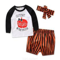 Baby-Girl-Long-sleeve-T-shirt-Pumpkin-Print-Letter-Stripe-Shorts-Headband-Outfits-Set-Casual-Children-Clothes