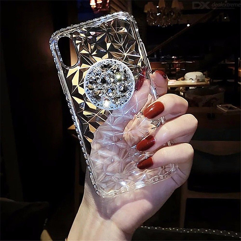 Glitter Phone Case For Iphone 7 Ultra-thin Clear Soft TPU Cover For Iphone 8 8plus 7plus Rhinestone Shockproof Phone Cas