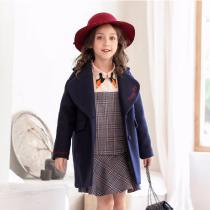 Fashion-Winter-Girl-Coat-Letters-Embroidery-Woolen-Coat-Navy-Blue-Children-Winter-Coat-Comfortable-Casual-Girls-Clothin