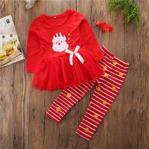Newborn-Toddler-Infant-Baby-Girl-Dress-Stripe-Long-Pants-Hair-Accessories-3pcs-Set-Santa-Claus-Embroidery-Pattern