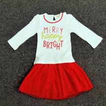 2018-Autumn-New-Girl-Christmas-Set-Polka-Dot-Lace-Skirt-Text-Print-Top-2pcs-Baby-Girl-New-Year-Clothes