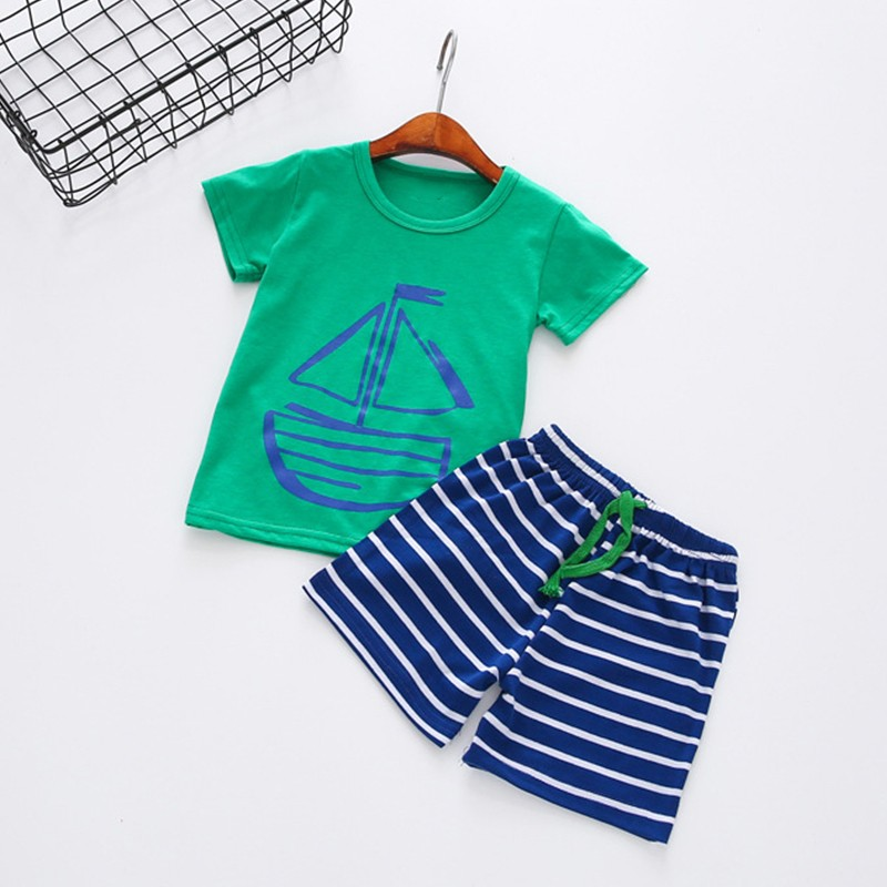 Boys Clothing Set Summer Wear 2018 Fashion Baby Cotton O-Neck Kids Clothes Toddler Boy Cartoon Casual 2PCS For Girls