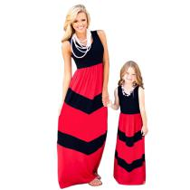 Fashion-Sleeveless-Summer-Family-Mother-Daughter-Matching-Dresses-Mom-And-Daughter-Dress-O-Neck-Long-Striped-Dress