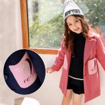 Fashion-Brand-Winter-Girl-Coat-Solid-Color-Woolen-Coat-Pink-Autumn-Childrens-Clothes-Comfortable-Casual-Girls-Clothing