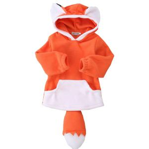 Fashion Kids Clothes Cute Fox Baby Girl Hoodies Warm Toddler Girl Winter Clothes Casual Cotton Childrens Clothing