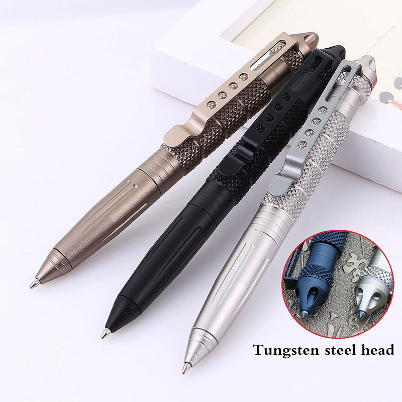 Dx coupon: High Quality Defence Personal Tactical Pen Self Defense Pen Tool Multipurpose Aviation Aluminum Anti-skid Portable