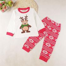 2018-Autumn-And-Winter-Girls-Clothes-Christmas-Moose-Print-Tops-2b-Floral-Pants-2pcs-Boys-And-Girls-Home-Service