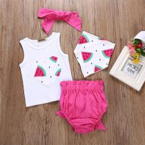 Summer-Fashion-Love-Pattern-Baby-Girl-Vest-Suit-Watermelon-Print-Headdress-Shorts-Vest-4pcs-Newborn-Clothing-1-3-Years-O